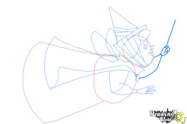 How to Draw Flora from Sleeping Beauty - Step 7