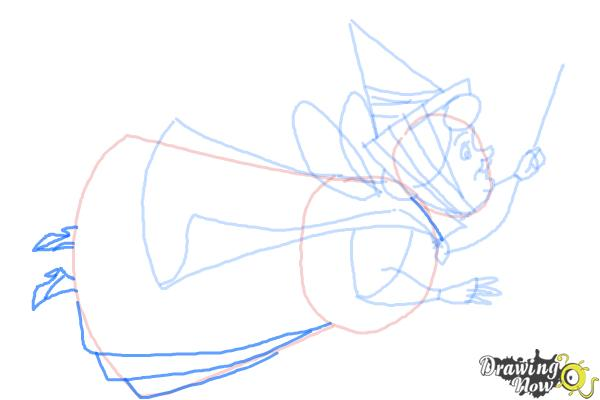 How to Draw Flora from Sleeping Beauty - Step 8
