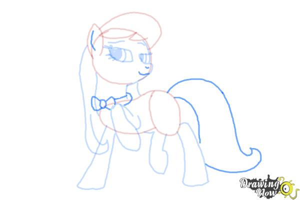 How to Draw Octavia, Octavia Melody from My Little Pony Friendship Is Magic - Step 7