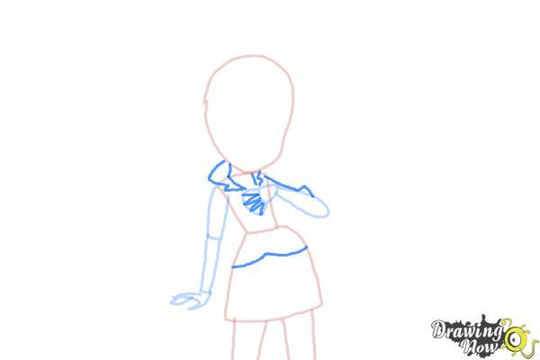 How to Draw Sonata Dusk from My Little Pony Equestria Girls: Rainbow Rocks - Step 4