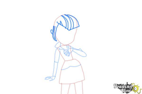 How to Draw Sonata Dusk from My Little Pony Equestria Girls: Rainbow Rocks - Step 5