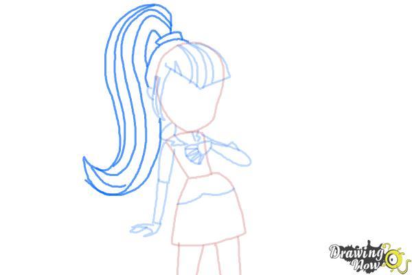 How to Draw Sonata Dusk from My Little Pony Equestria Girls: Rainbow Rocks - Step 6