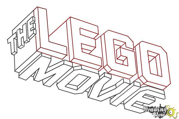 How to Draw The Lego Movie Logo - Step 10
