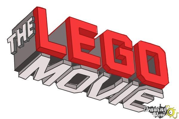 How to Draw The Lego Movie Logo - Step 11