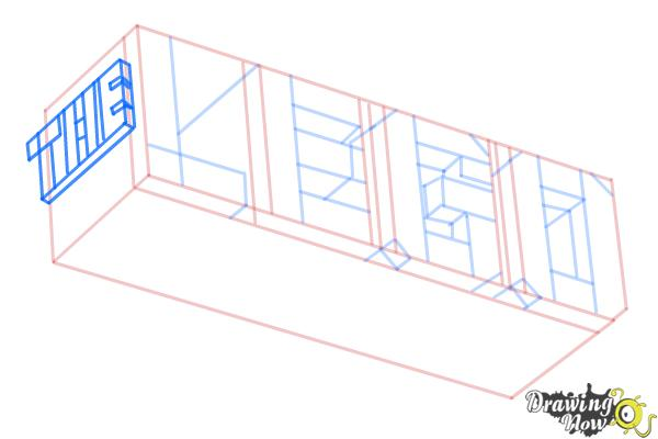 How to Draw The Lego Movie Logo - Step 7