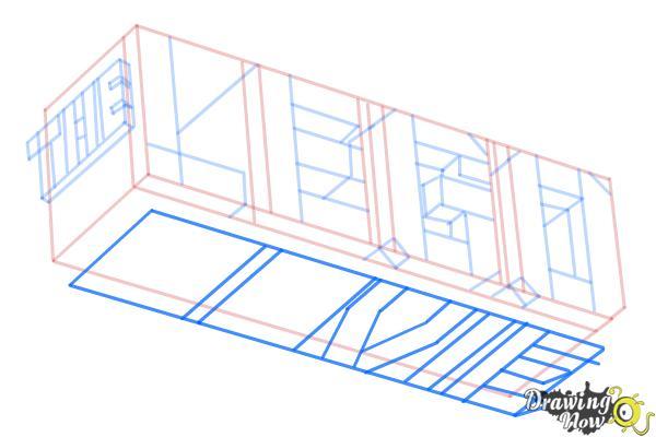 How to Draw The Lego Movie Logo - Step 8