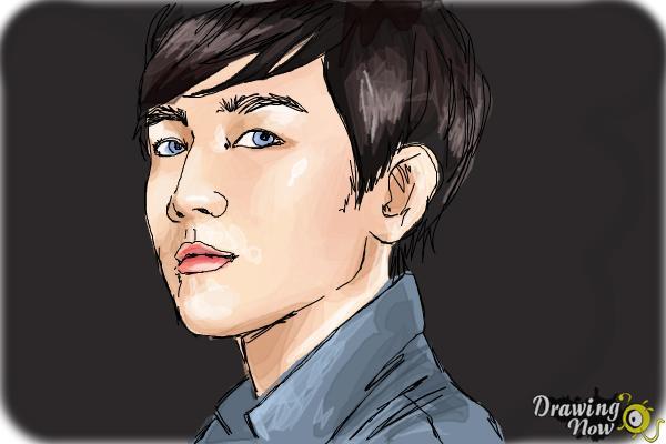 How to Draw Byun Baek Hyun from (Exo-K) - Step 10