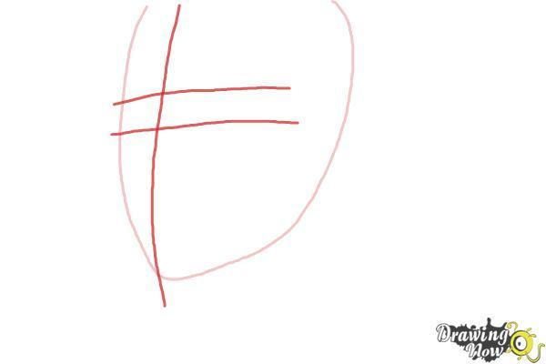 How to Draw Byun Baek Hyun from (Exo-K) - Step 2