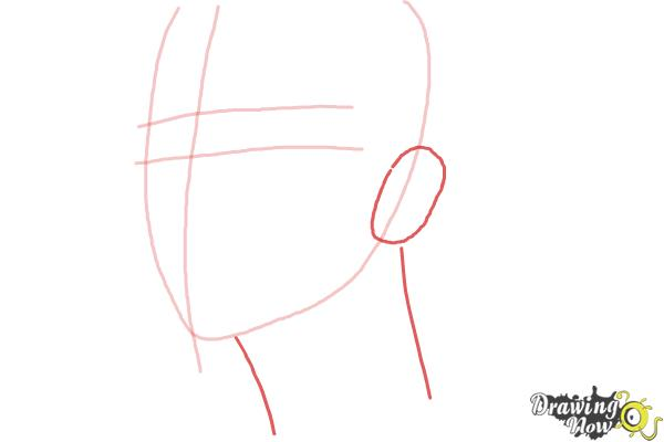 How to Draw Byun Baek Hyun from (Exo-K) - Step 3