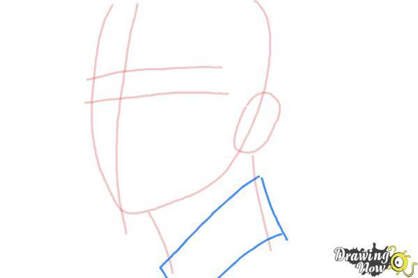 How to Draw Byun Baek Hyun from (Exo-K) - Step 4