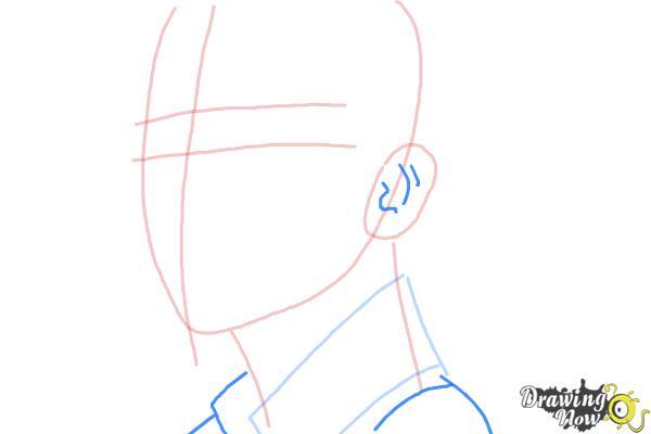How to Draw Byun Baek Hyun from (Exo-K) - Step 5