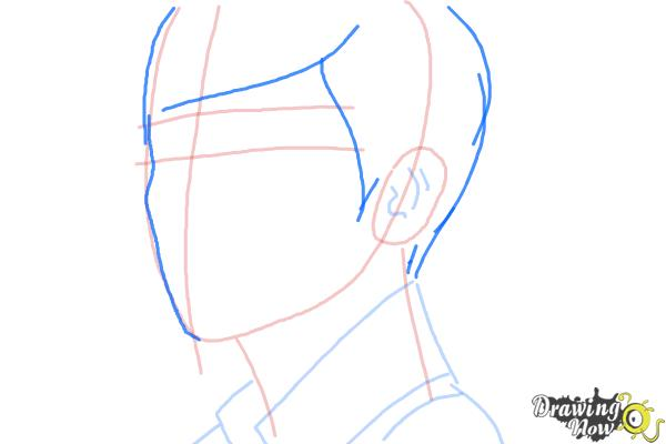 How to Draw Byun Baek Hyun from (Exo-K) - Step 6