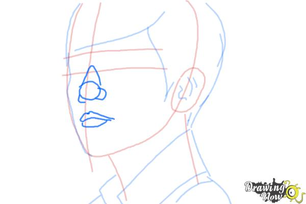 How to Draw Byun Baek Hyun from (Exo-K) - Step 7