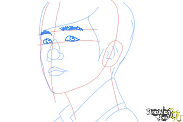 How to Draw Byun Baek Hyun from (Exo-K) - Step 8