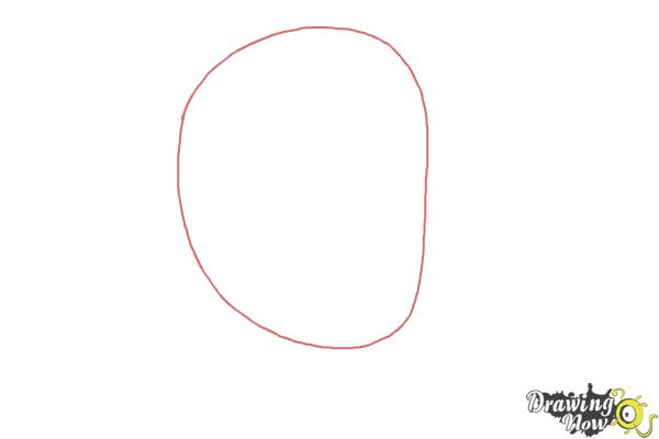 How to Draw Robin Williams - Step 1
