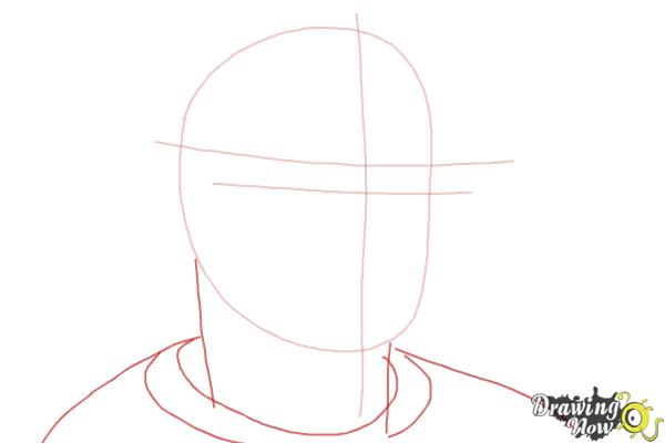 How to Draw Robin Williams - Step 3