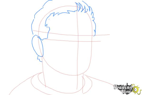 How to Draw Robin Williams - Step 4