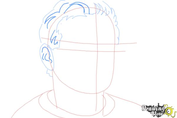 How to Draw Robin Williams - Step 5