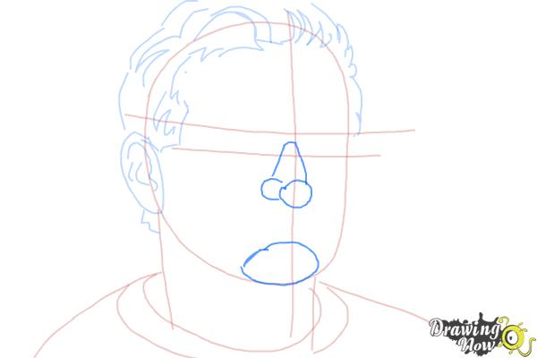 How to Draw Robin Williams - Step 6