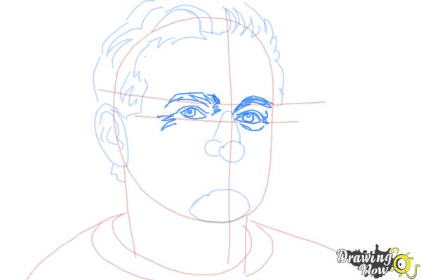 How to Draw Robin Williams - Step 7