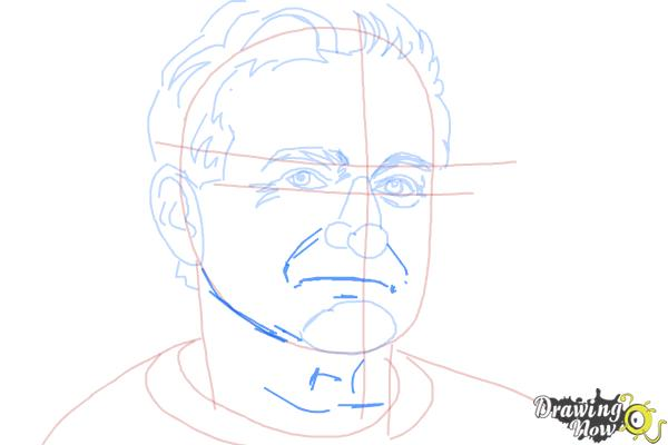 How to Draw Robin Williams - Step 8