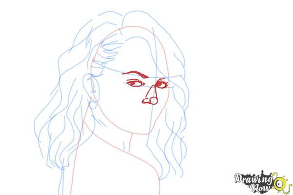 How to Draw Chrissy Teigen - Step 6