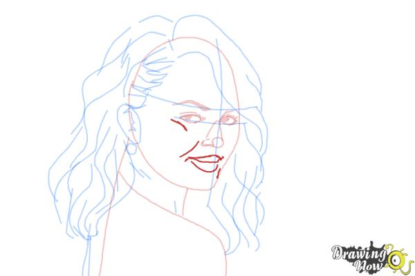 How to Draw Chrissy Teigen - Step 7