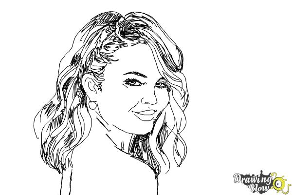 How to Draw Chrissy Teigen - Step 8