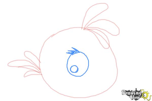 How to Draw Angry Bird Stella, Pink Bird - Step 6