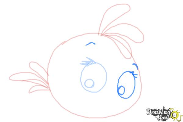 How to Draw Angry Bird Stella, Pink Bird - Step 7