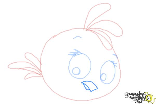 How to Draw Angry Bird Stella, Pink Bird - Step 8