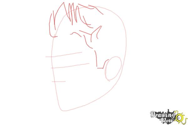 How to Draw Justin Bieber 2014 - Step 3