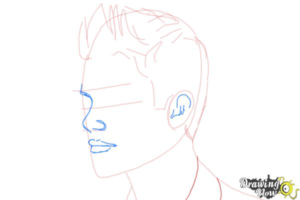 How to Draw Justin Bieber 2014 - Step 5