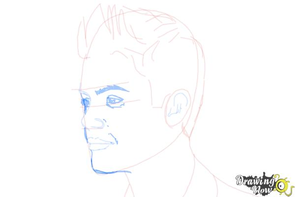 How to Draw Justin Bieber 2014 - Step 6