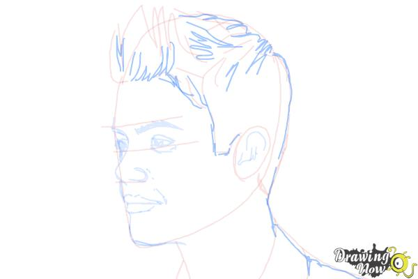 How to Draw Justin Bieber 2014 - Step 7