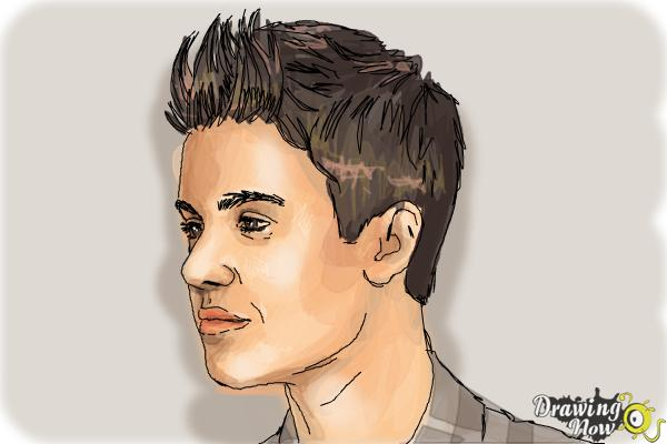 How to Draw Justin Bieber 2014 - Step 9