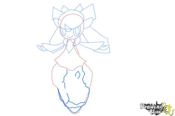 How to Draw Diancie from Pokemon X