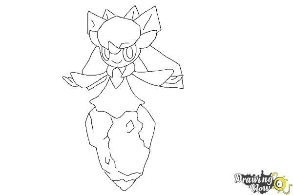 how to draw diancie from pokemon x  u0026 y