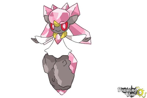 How to Draw Diancie from Pokemon X