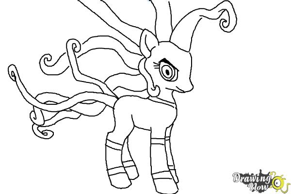 How to Draw Mane-Iac Mayhem from My Little Pony Equestria Girls - Step 10