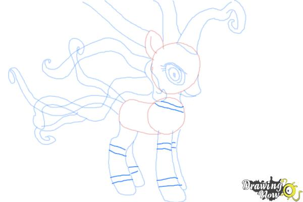 How to Draw Mane-Iac Mayhem from My Little Pony Equestria Girls - Step 9