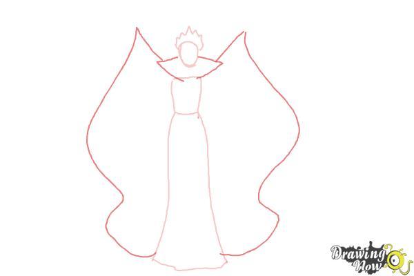 How to Draw Evil Queen, Disney Villain - Step 3