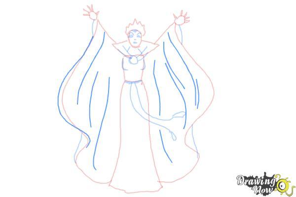 How to Draw Evil Queen, Disney Villain - Step 7