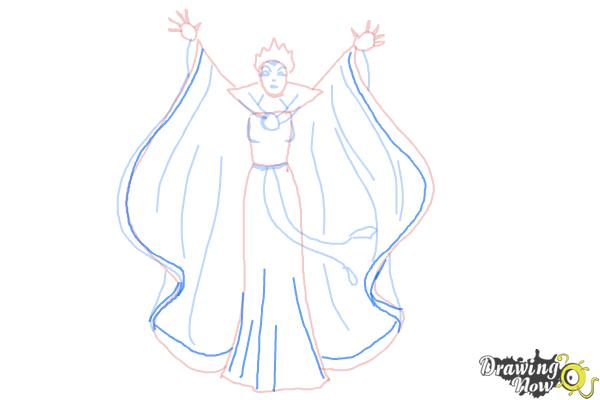 How to Draw Evil Queen, Disney Villain - Step 8
