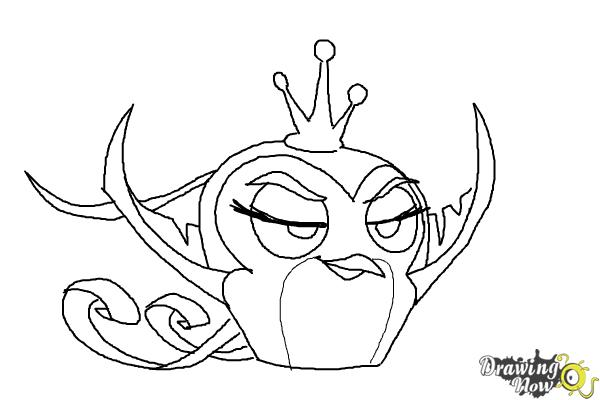 How to Draw Angry Bird Gale from