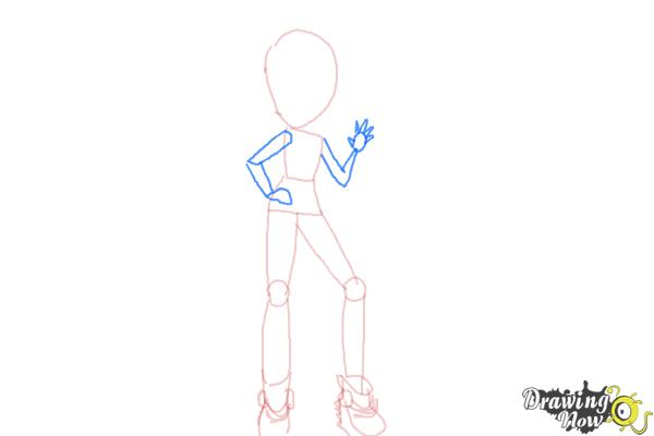 How to Draw Violet Blurr from My Little Pony Equestria Girls - Step 6