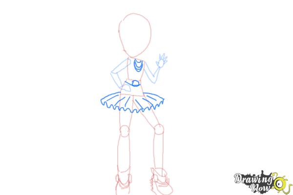 How to Draw Violet Blurr from My Little Pony Equestria Girls - Step 7