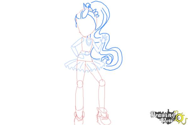How to Draw Violet Blurr from My Little Pony Equestria Girls - Step 8