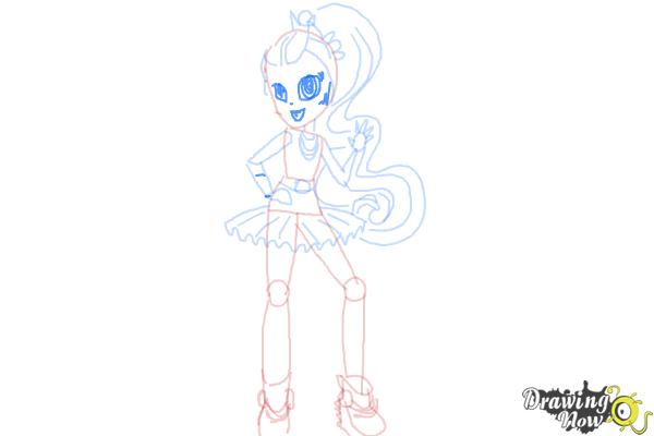 How to Draw Violet Blurr from My Little Pony Equestria Girls - Step 9