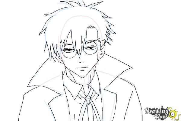 How to Draw Braz D. Blood from Blood Lad - Step 10